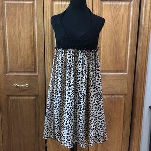 Roulette women's size 10 leopard print dress